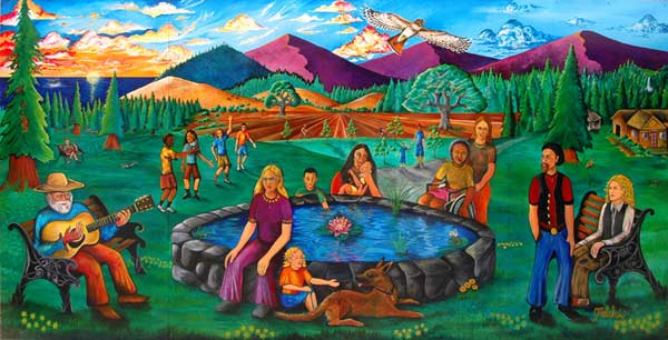 """Healthy Rural Community Living"" Mural by Malakai Schindel"
